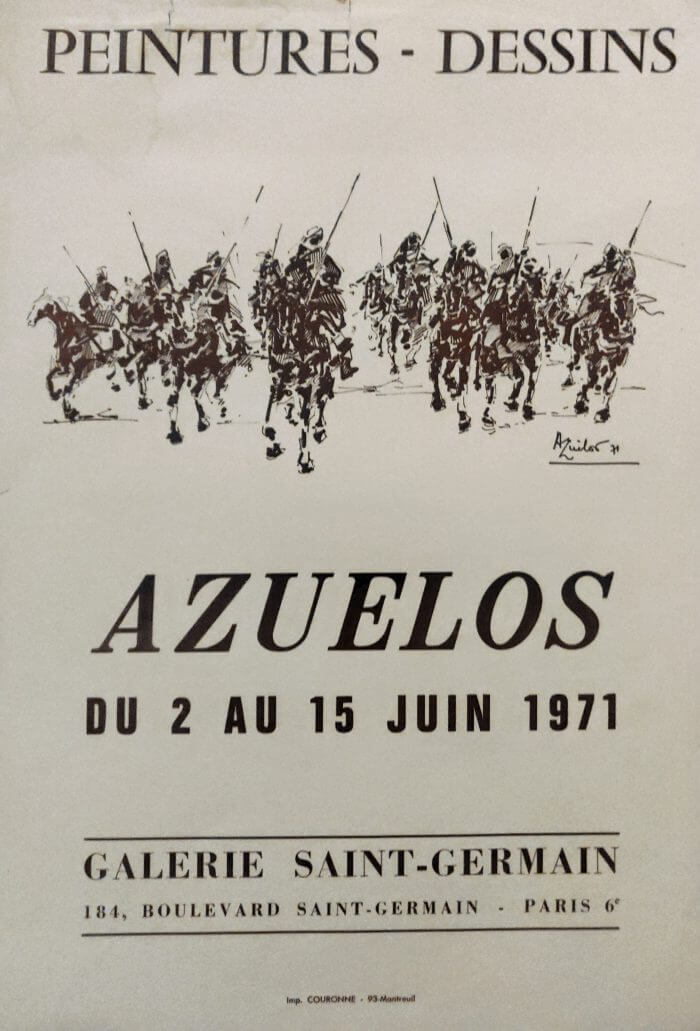 AZUELOS GALLERIE SAINT GERMAIN DU 15 JUIN 1971